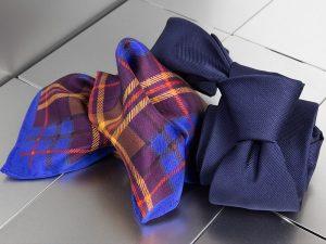 krawat + poszetka jedwabna