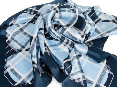 apaszka jedwabna BUR2-BLUE