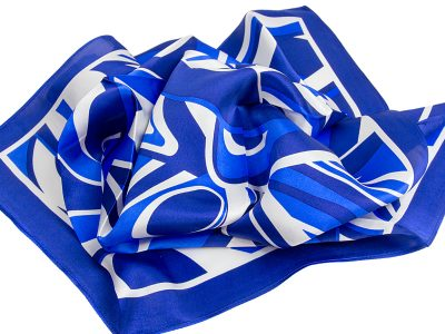 Apaszka jedwabna Fala Blue