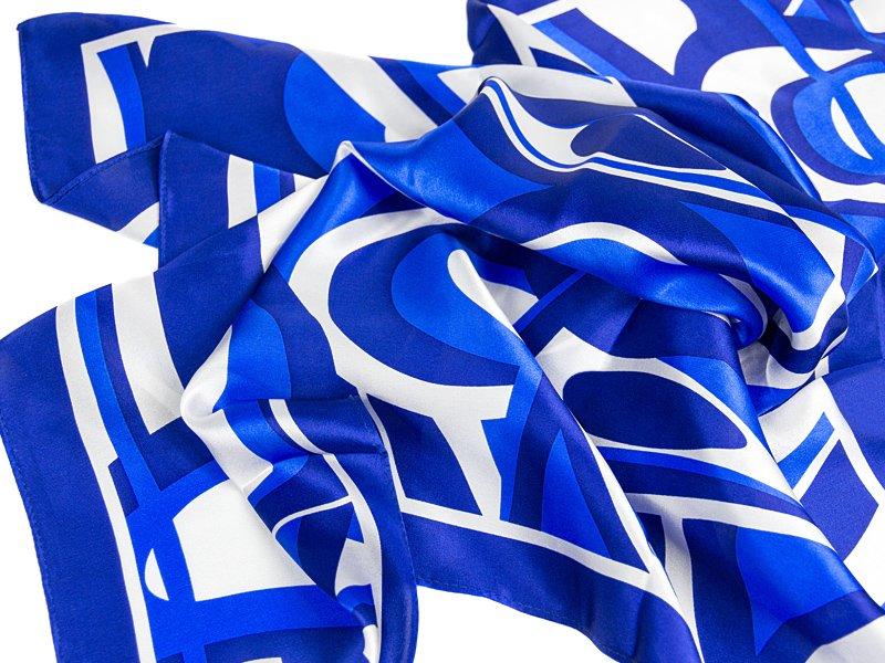 apaszka jedwabna FALA-BLUE
