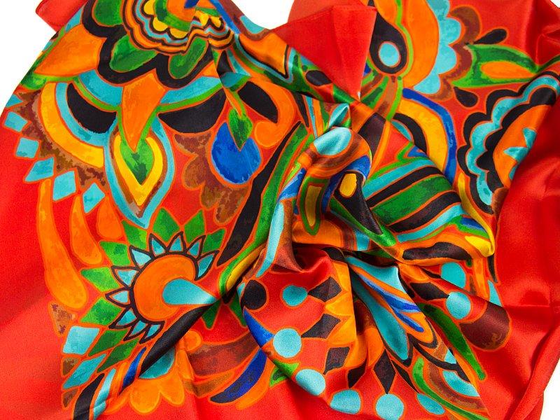 apaszka jedwabna OLIV-SCARF -RED