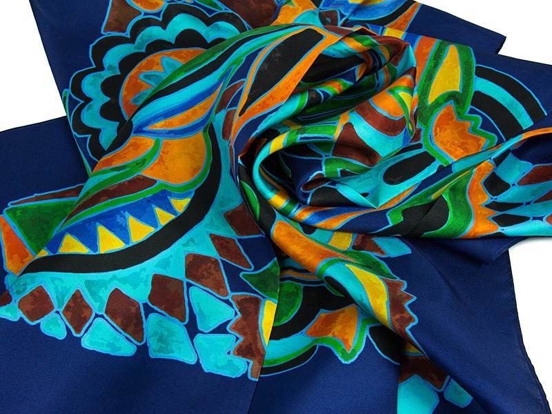 apaszka jedwabna OLIV Blue