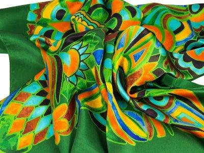 apaszka-jedwabna-OLIV-GREEN