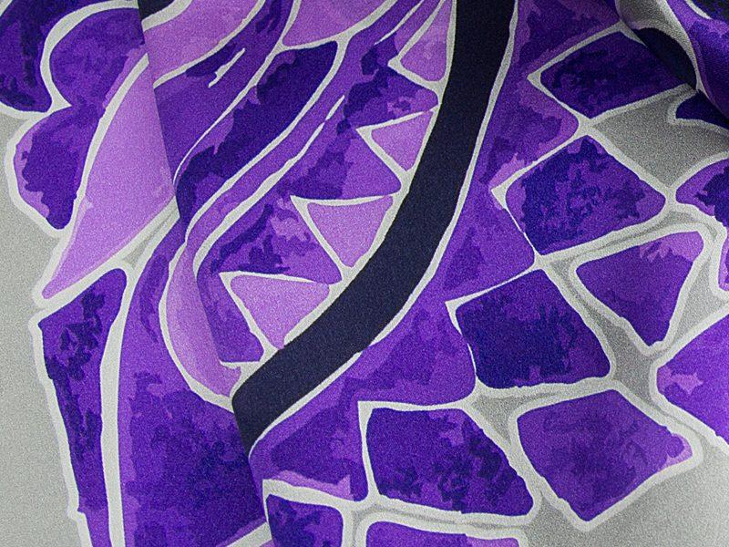 Apaszka jedwabna OLIV-GREY