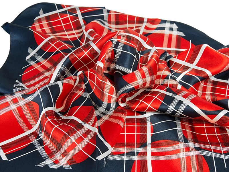 apaszka jedwabna 67x67cm Bur2-red