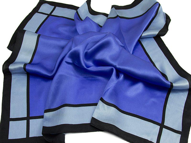 Apaszka jedwabna MILLENA-BLUE