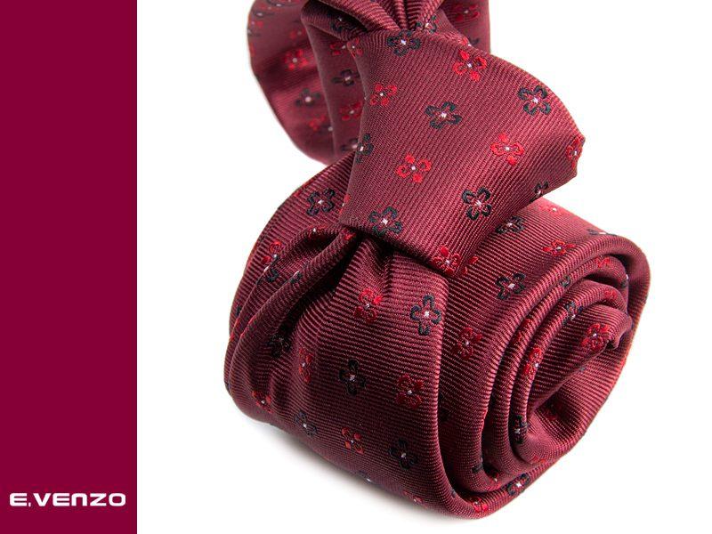 Krawat z mikrofibry VENZO m693