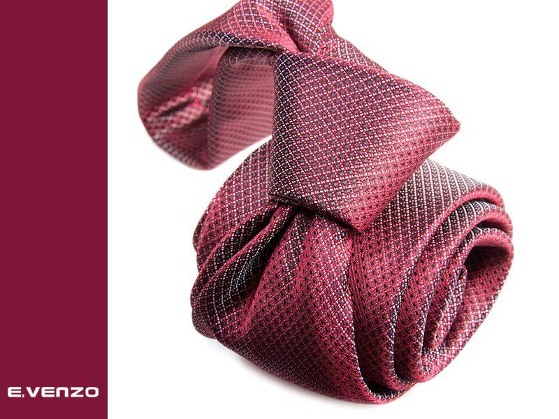 Krawat z mikrofibry VENZO m696