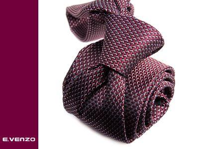Krawat z mikrofibry VENZO m697