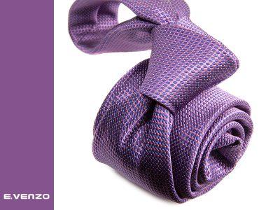 Krawat z mikrofibry VENZO m698