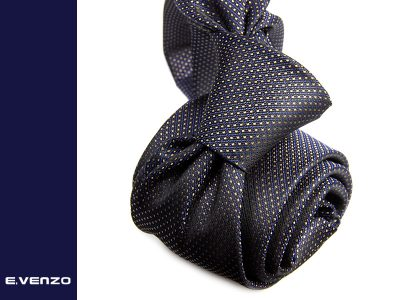 Krawat z mikrofibry VENZO m711