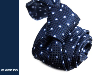 Krawat z mikrofibry VENZO m718