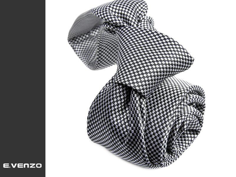 Wąski krawat z mikrofibry VENZO m724