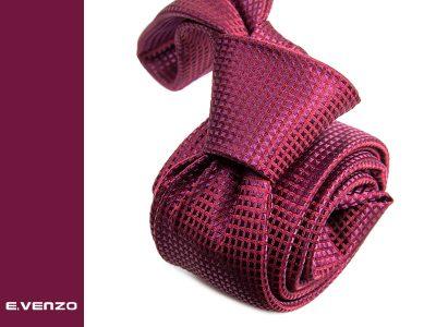 Wąski krawat z mikrofibry VENZO m725