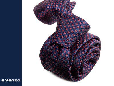 Wąski krawat z mikrofibry VENZO m726