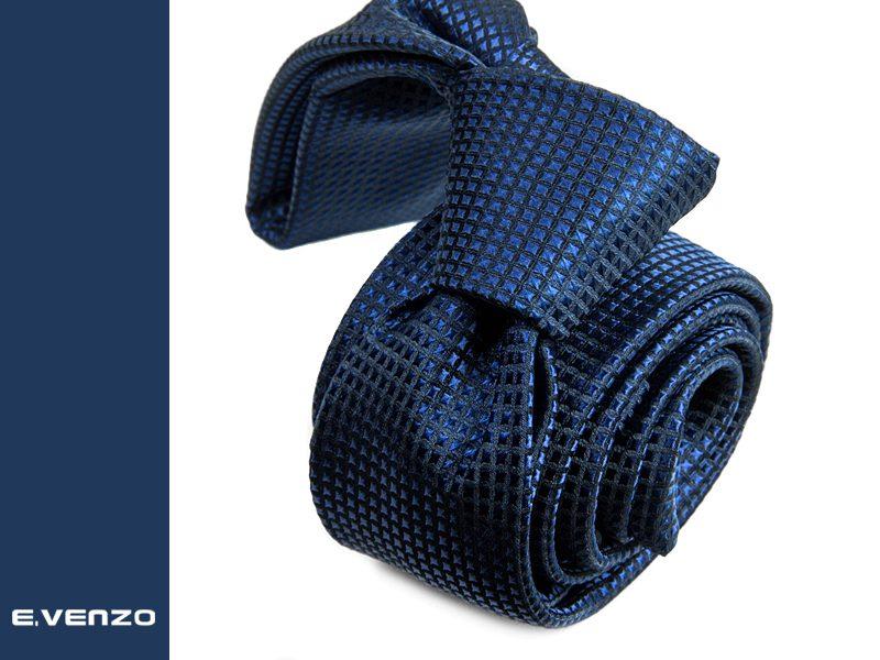 Wąski krawat z mikrofibry VENZO m727