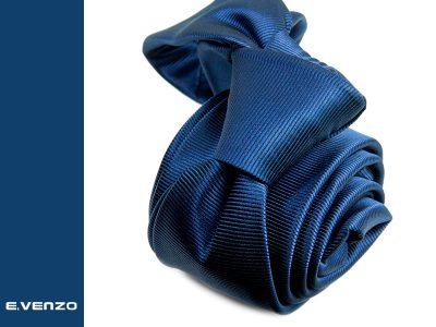 Wąski krawat z mikrofibry VENZO m728