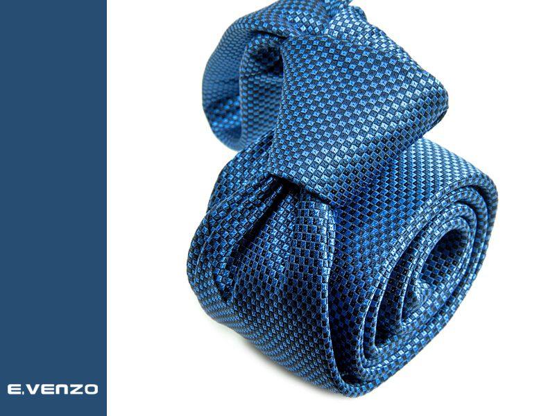 Wąski krawat z mikrofibry VENZO m729