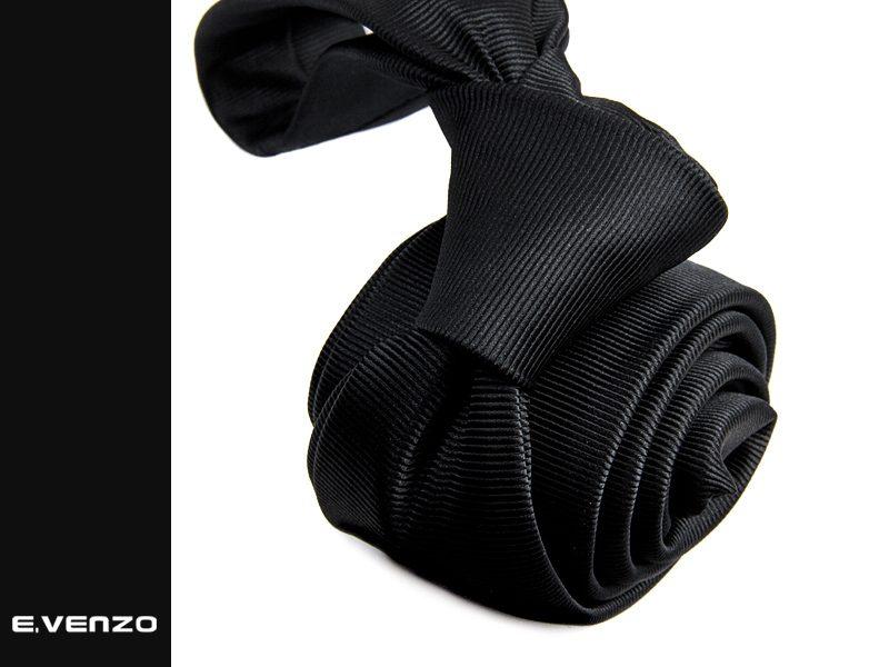 Wąski krawat z mikrofibry VENZO m731