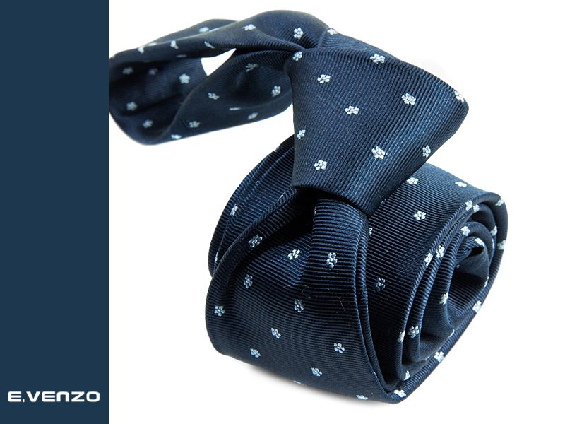 wąski krawat jedwabny Venzo 532