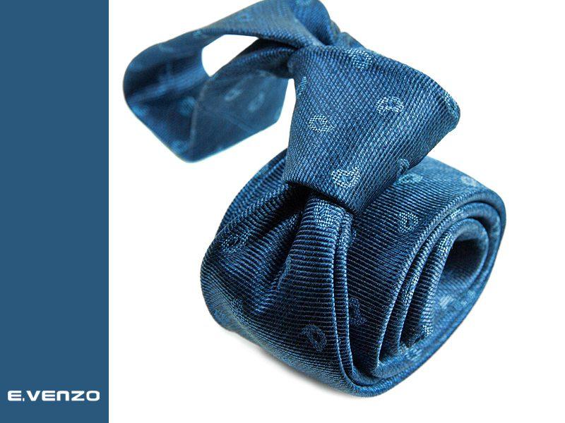 wąski krawat jedwabny Venzo 533