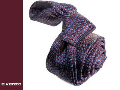 wąski krawat jedwabny Venzo 535