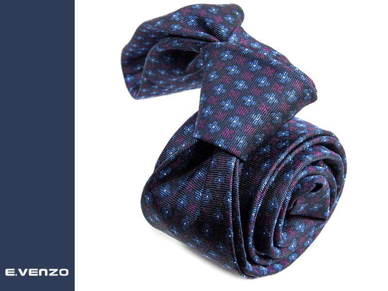 wąski krawat jedwabny Venzo 536