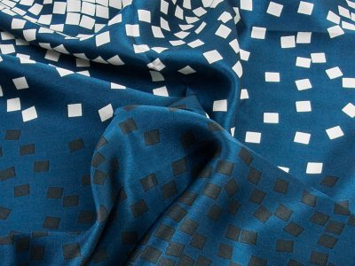 Apaszka jedwabna BLOCKS-SCARFS-DEEP BLUE