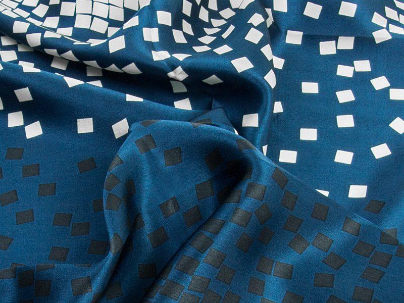 Apaszka jedwabna BLOCKS-SCARFS-DEEP BLUE