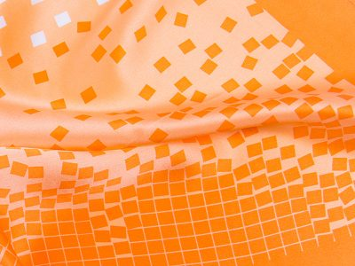 Apaszka jedwabna BLOCKS-SCARFS-ORANGE
