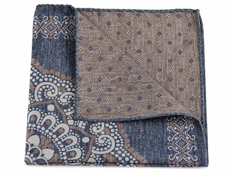 Poszetka jedwab z bawełną sc022