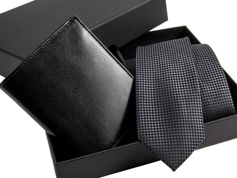 zestaw Krawat 463 + portfel skorzany