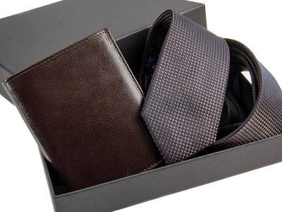 zestaw Krawat 464 + portfel skorzany