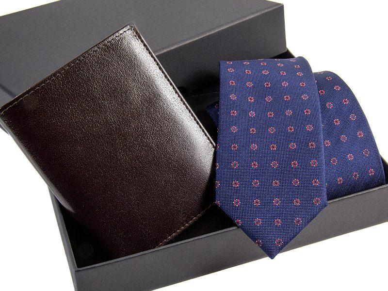 zestaw Krawat 530 + portfel skorzany