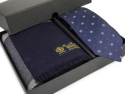 zestaw 17 Krawat + szal wełniany