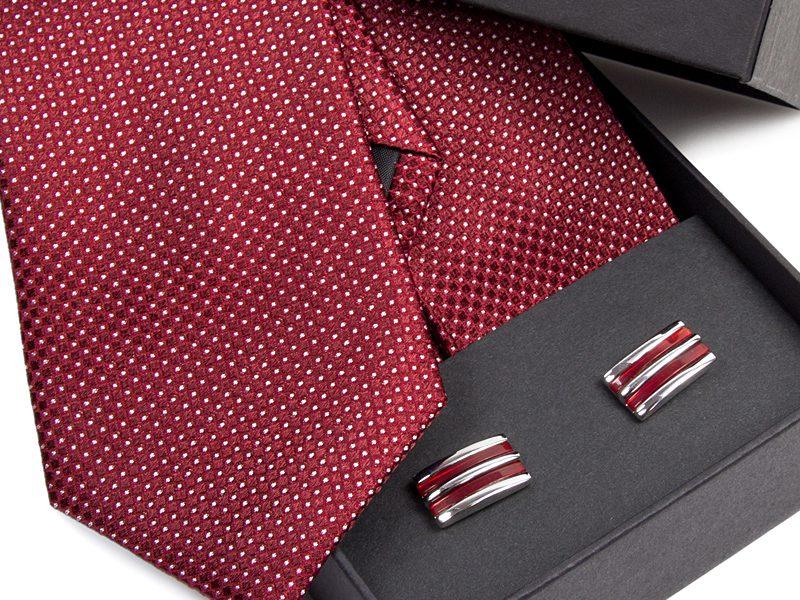 krawat jedwabny 478 + spinki