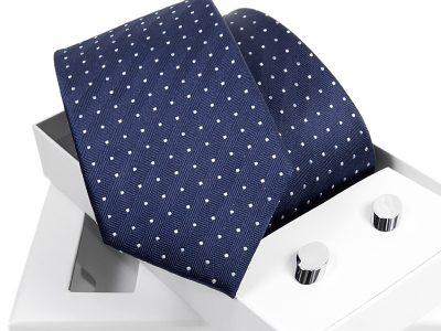 zestaw krawat 471 + spinki venzo B006
