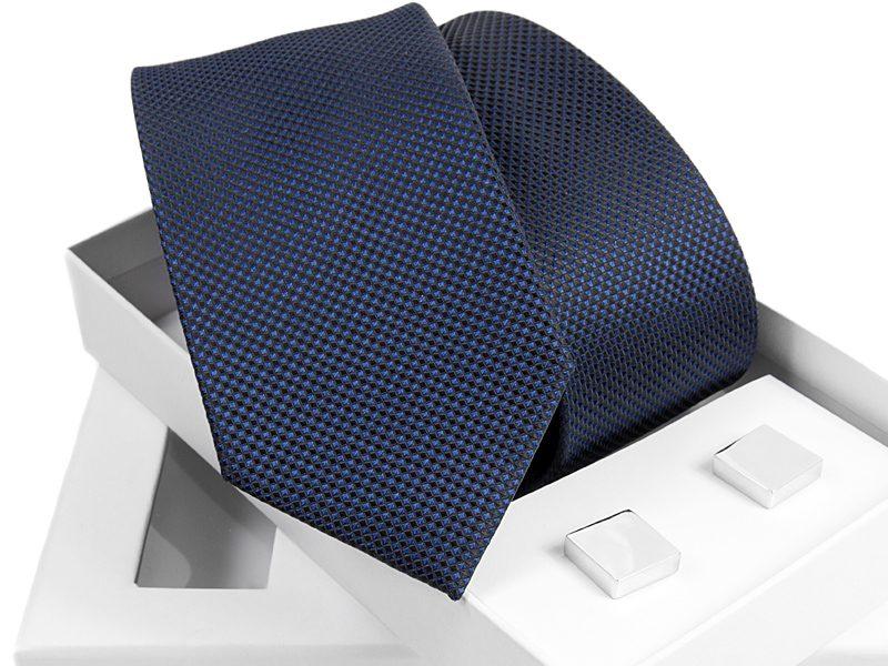 zestaw krawat 494 + spinki venzo B005
