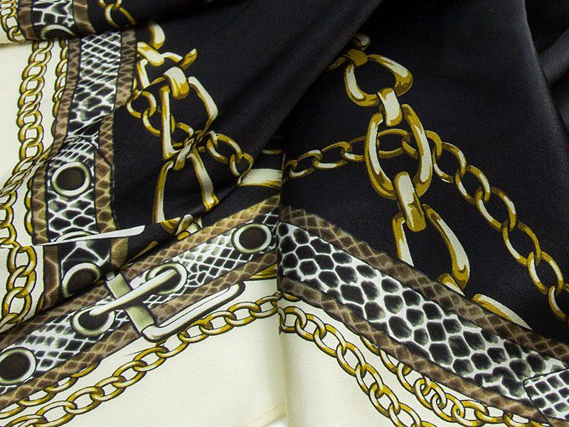 apaszka jedwabna chains -