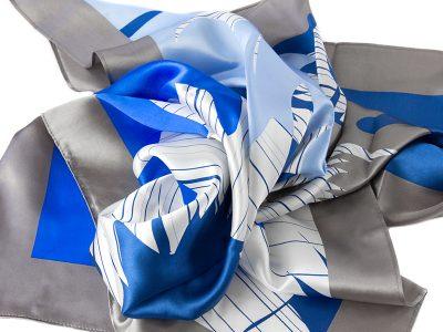 apaszka jedwabna FLOWER BLUE SCARF