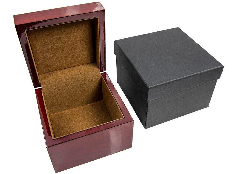 pudełko drewniane na krawat, apaszkę