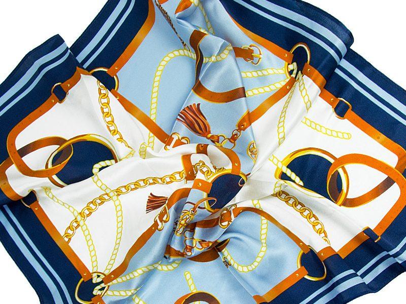 apaszka jedwabna BELTS-BLUE-SCARF-v3