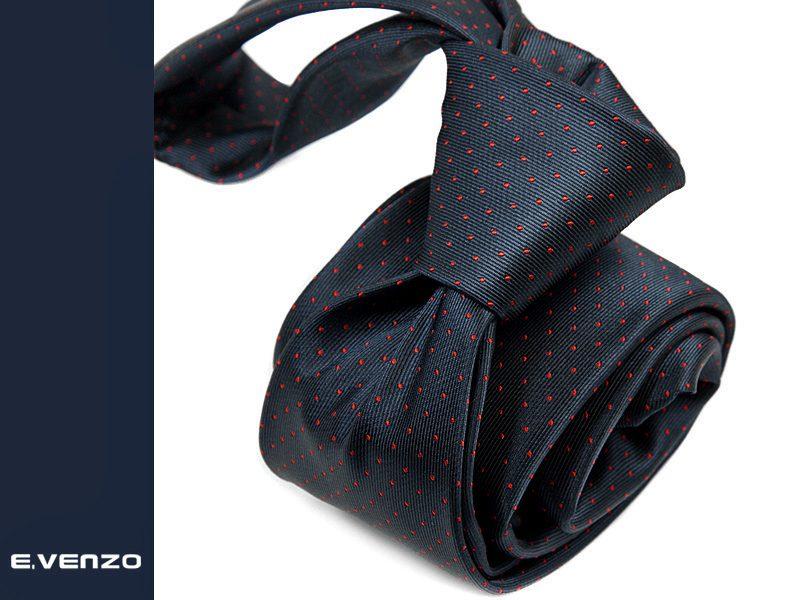 krawat jedwabny venzo 600
