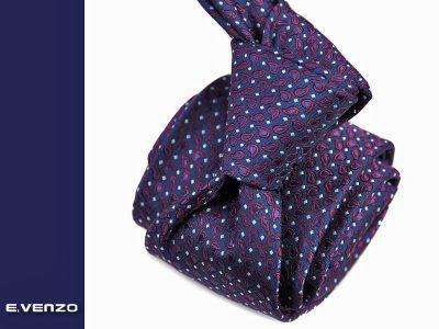 krawat jedwabny venzo 602