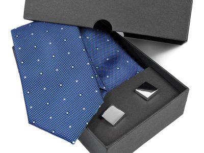 Zestaw Krawat jedwabny + spinki 596
