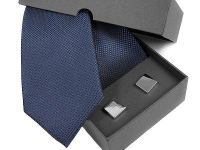 Zestaw na prezent: Krawat jedwabny + spinki 494
