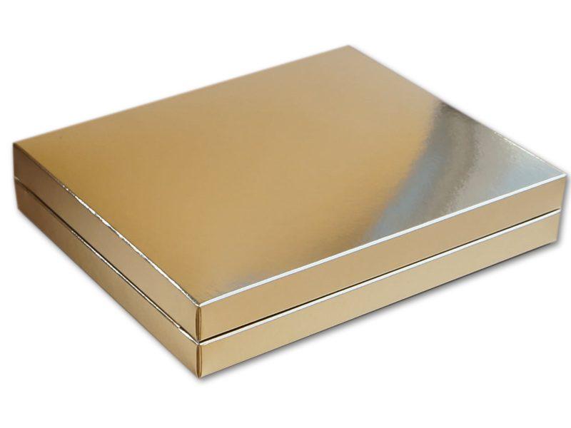 złote opakowanie na apaszkę, prezent