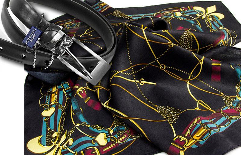 zestaw upominkowy dla żony - apaszka belts + pasek