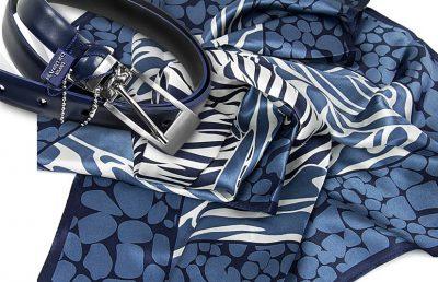 zestaw upominkowy dla żony - apaszka lucy-blue + pasek