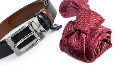 zestaw na prezent : krawat + pasek m692